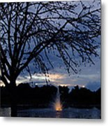 Evening Falls On Youth's Fountain Metal Print