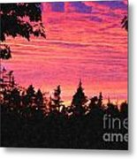 Evening In Paradise Painterly Style Metal Print