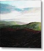 Evening Landscape Towards Llangollen Metal Print