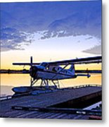 Evening Light On A Dehavilland Beaver- Abstract Metal Print by Tim Grams