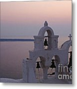 Santorini Greece Evening Light  Metal Print