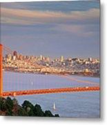 Evening Over San Francisco Metal Print