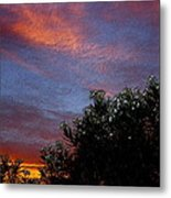 Evening Sky In Palm Desert California Metal Print
