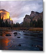 Evening Sun Lights Up El Capitan Metal Print