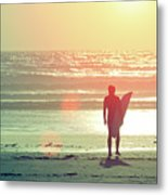 Evening Surfer Metal Print by Paul McGee