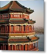 Evening Temple Of The Fragrant Buddha Metal Print by Mike Reid