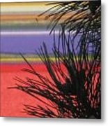 Evergreens And Tulips Metal Print