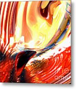 Evil Intent Abstract Metal Print