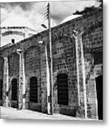Evkaf Dairesi Bekir Pasa Su Idaresi Larnaka Iyhf Building In The Old Town Of Larnaca Republic Cyprus Metal Print