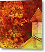 Exaggerated Fall Metal Print
