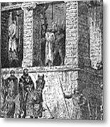 Execution Of Heretics Metal Print