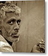 Exhaling In Lucknow Metal Print