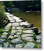 Exmoor National Park Crossing Bridge Metal Print