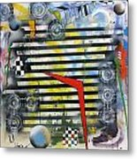 Exploded View Metal Print