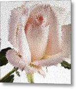 Exploding Pink Rose Metal Print by M K  Miller