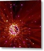 Exploding Star, Conceptual Artwork Metal Print