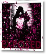 Exposed In Pink Metal Print