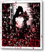 Exposed In Red Metal Print