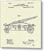 Extension Fire Ladder 1895 Patent Art Metal Print