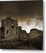 Exterior Of The Ruins Of Denhigh Castle Metal Print