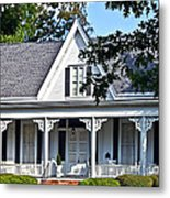 Exterior Of Victorian Style House Metal Print