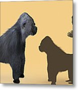 Extinct Giant Gorilla Metal Print