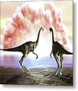 Extinction Of The Dinosaurs, Artwork Metal Print by Jose Antonio PeÑas