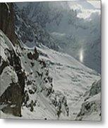 Extreme Skier Jean Franck Charlet Metal Print