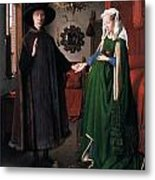 Eyck: Arnolfini Marriage Metal Print