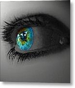 Eye Art Metal Print