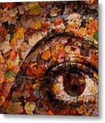 Eye Of Autumn Metal Print