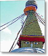 Eyes Of The Boudhanath Stupa  Nepal Metal Print
