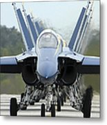 Fa-18a Hornets Assigned To The Blue Metal Print