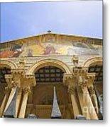 facade of Church of all Nations Jerusalem Metal Print