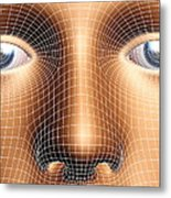 Face Biometrics Metal Print