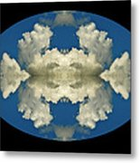 Face In Clouds At The Air Race Metal Print