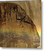 Face In The Rainbow Metal Print