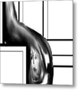 Face In Water Drop Metal Print