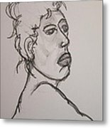 Face Of Nude Woman Metal Print