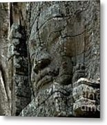 Face Of Stone Metal Print