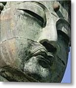 Face Of The Daibutsu Or Great Buddha Metal Print