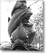 Face Of The Thames Metal Print