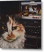 Facebook Cat Metal Print