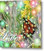 Facebook Love Metal Print by Laurence Oliver