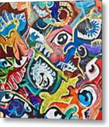 Faces In A Crowd Metal Print