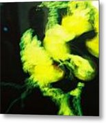 Faces In The Green Metal Print