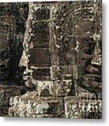 Faces Of Banyon Angkor Wat Cambodia Metal Print