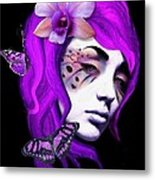 Faces Of Fay Violet Metal Print by Diana Shively