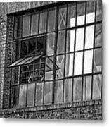 Factory Air In New Orleans In Black And White Metal Print