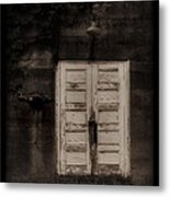 Factory Door Metal Print